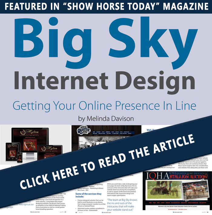 Show Horse - Read all about it!