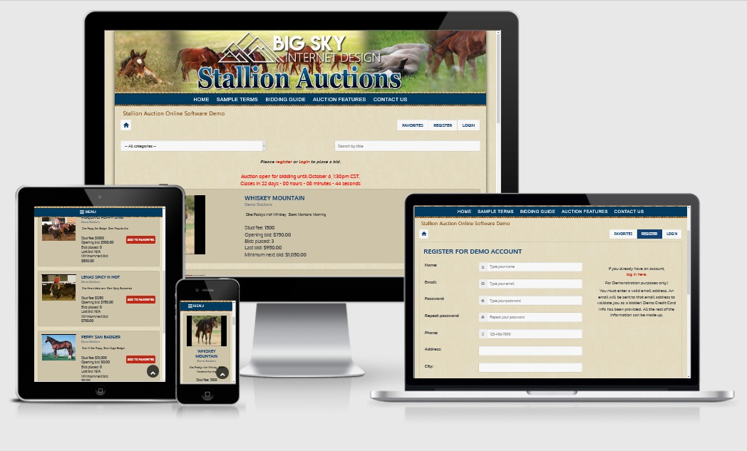 Stallion Auction Software