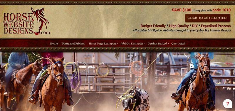 Affordable DIY Equine Websites brought to you by Big Sky Internet Design!